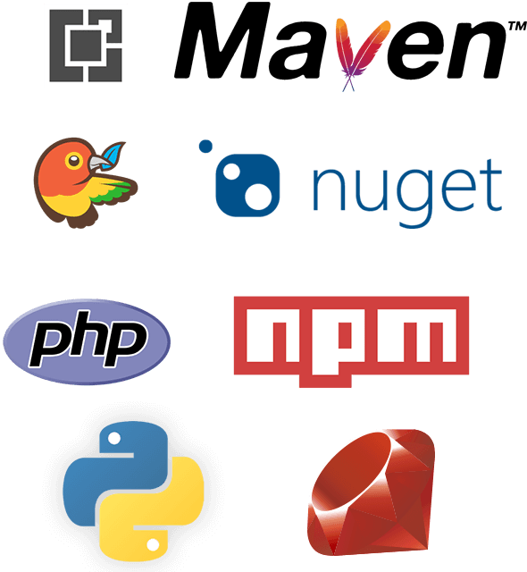 Secure, private repositories for your NuGet, npm, Maven, Bower, PHP, VSIX, Python and Ruby Gems packages