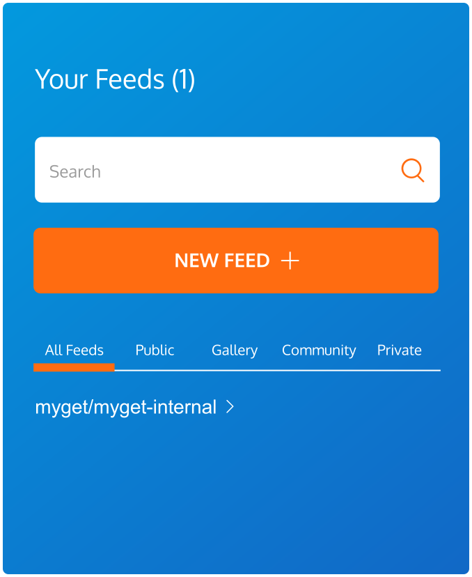 MyGet supports unlimited public and private feeds